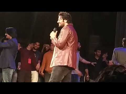 Ali Fazal as a chief guest In FILMSAAZ 2K19 ALIGARH MUSLIM UNIVERSITY