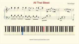 "How To Play Piano: Savatage ""All That Bleed"" Piano Tutorial by Ramin Yousefi"