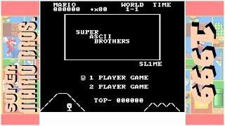 Super ASCII Bros. | Hack of Super Mario Bros. (NES)