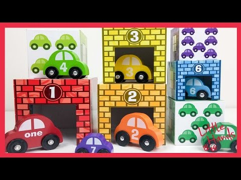 Garages and Cars Nesting n Stacking Melissa & Doug for Toddler Kids English 英語 パズル 영어 | LittleHands