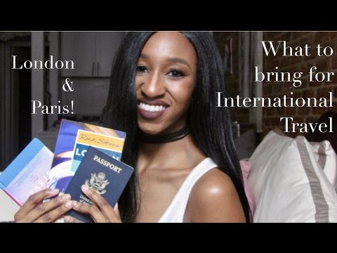 Travel Essentials! What to pack for International Travel |  London & Paris
