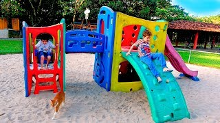 Kids Pretend Play The Master Sent in Playground for Children
