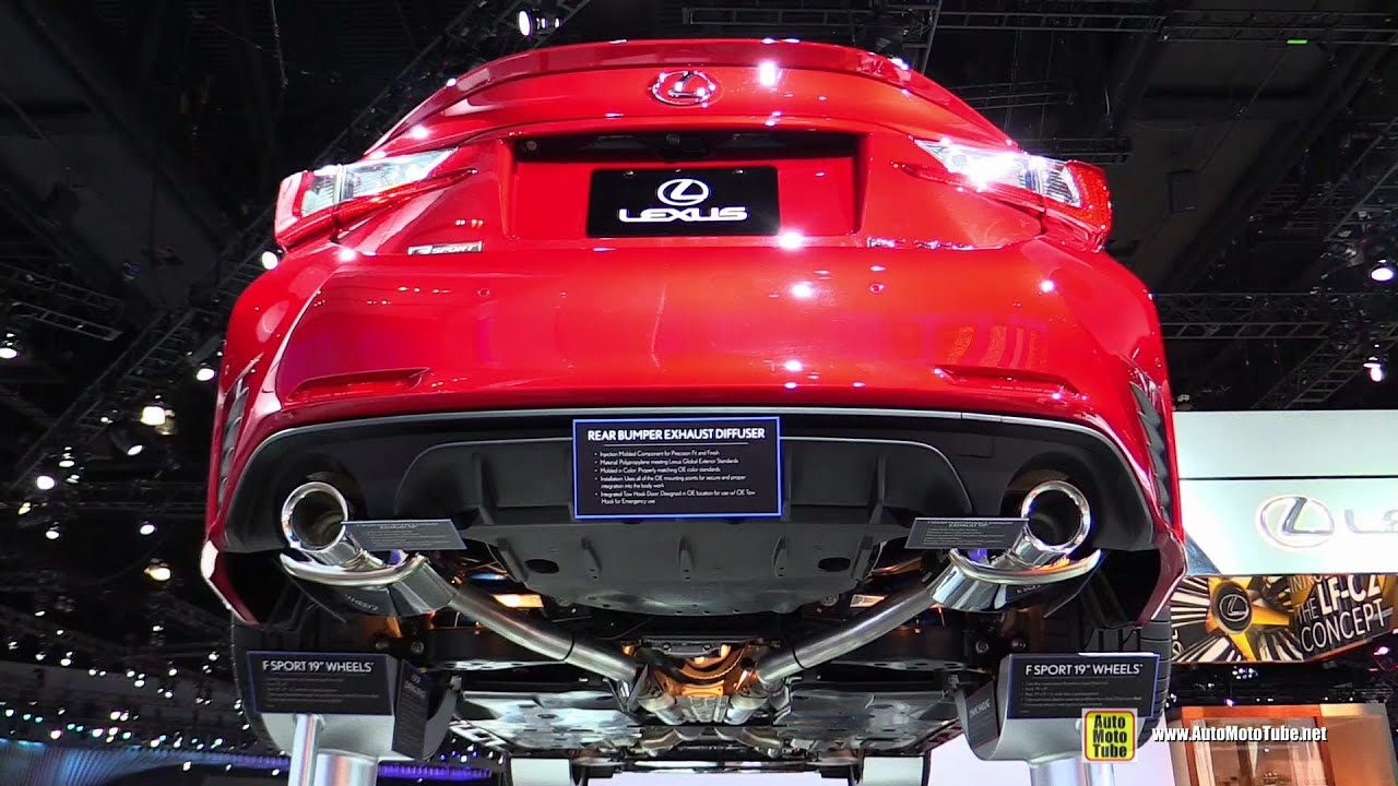2015 Lexus RC350 F Sport   Underbody And Suspension Walkaround   2014 LA  Auto Show   YouTube
