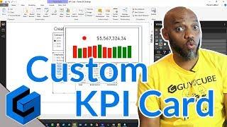 إنشاء مخصص KPI بطاقة في السلطة BI التقرير