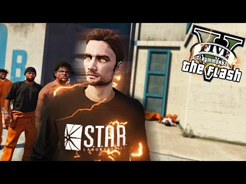 THE FLASH IN PRISON! Prison Life of Barry Allen (GTA 5 Flash Mod)