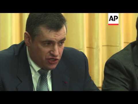 Russian deputy says Yanukovych is a legitimate president, pro-Russia protest