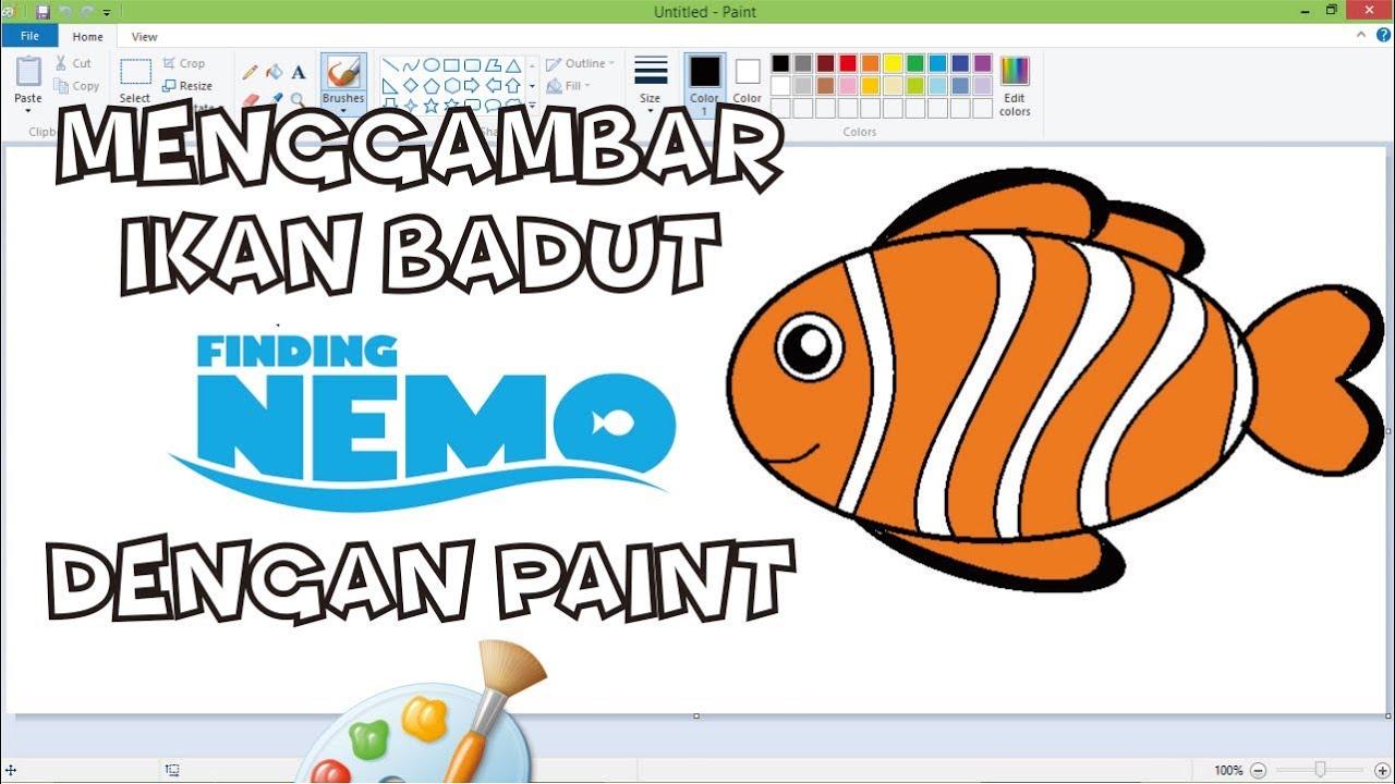 Ikan Nemo Cara Menggambar Ikan Badut Finding Nemo Youtube