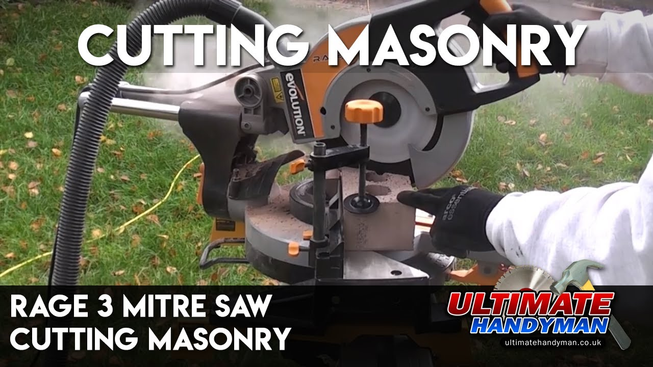 Rage 3 mitre saw cutting masonry youtube rage 3 mitre saw cutting masonry greentooth Images
