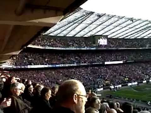 """God Save the Queen"" at Twickenham Stadium ""England vs Wales"""