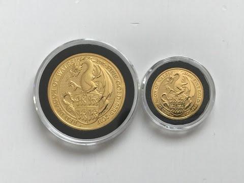 1 oz & 1/4 oz Gold 2017 Royal Mint Queen