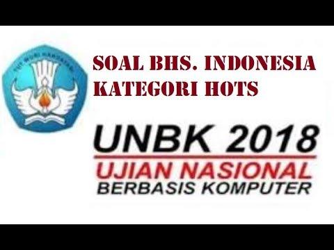 Soal UNBK 2018 kategori Hots dalam Bahasa Indonesia