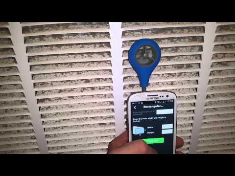 AAb air flow meter vs cfm calc.
