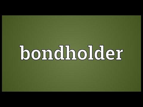 Bondholder Meaning