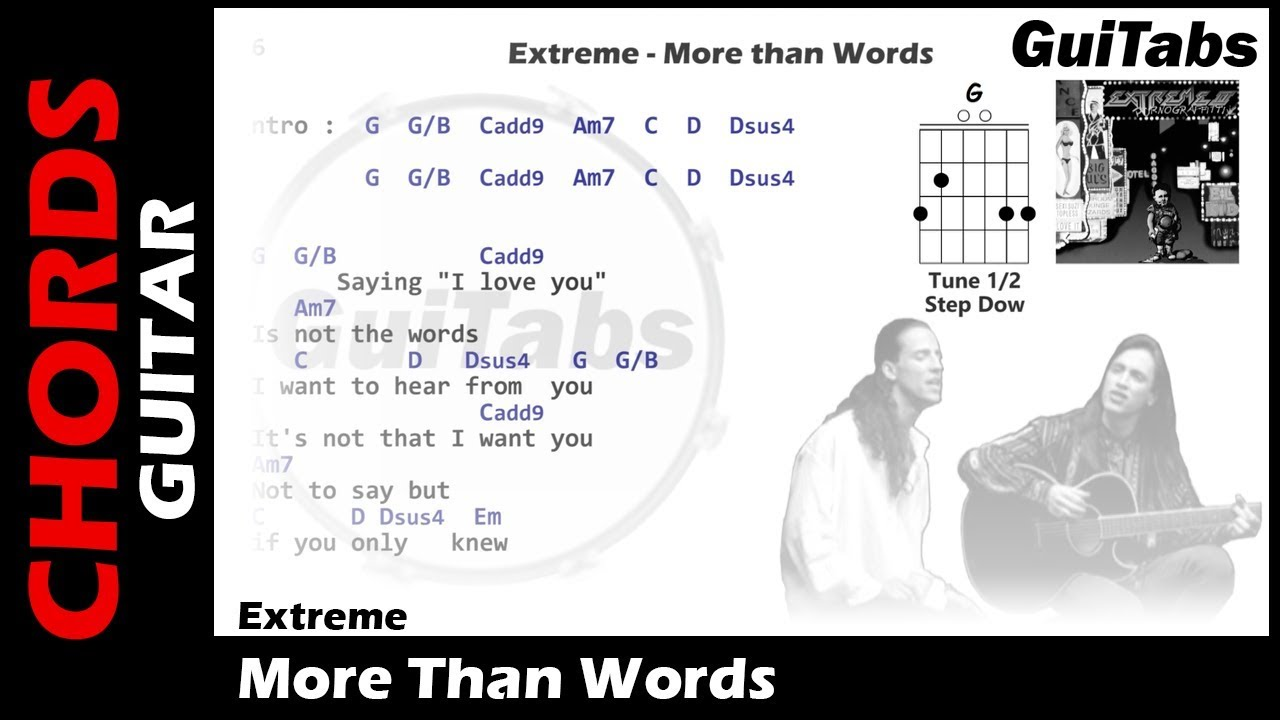how to play more than words youtube