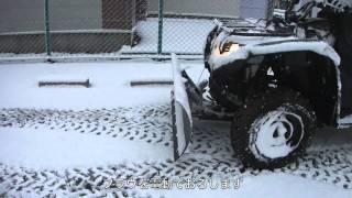Repeat youtube video ヤマハ4輪バギー除雪車HD.mov