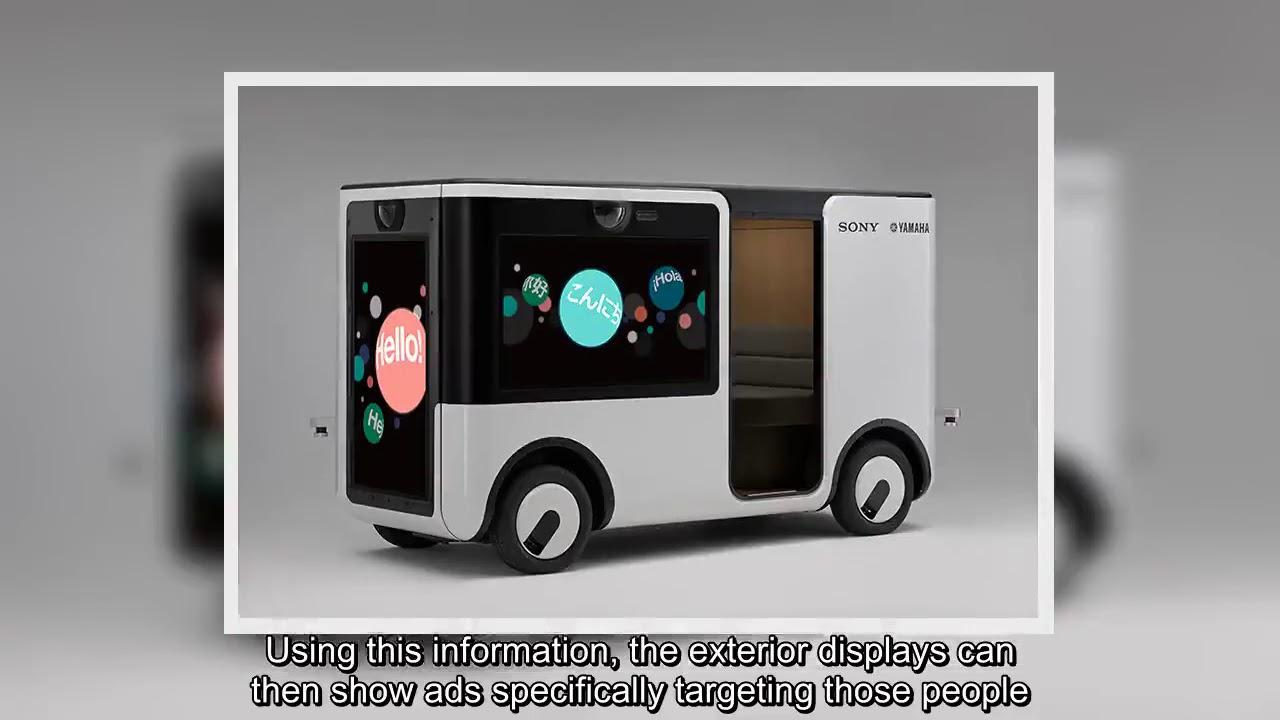 Yamaha & Sony Jointly Developed Autonomous Electric Sociable Cart