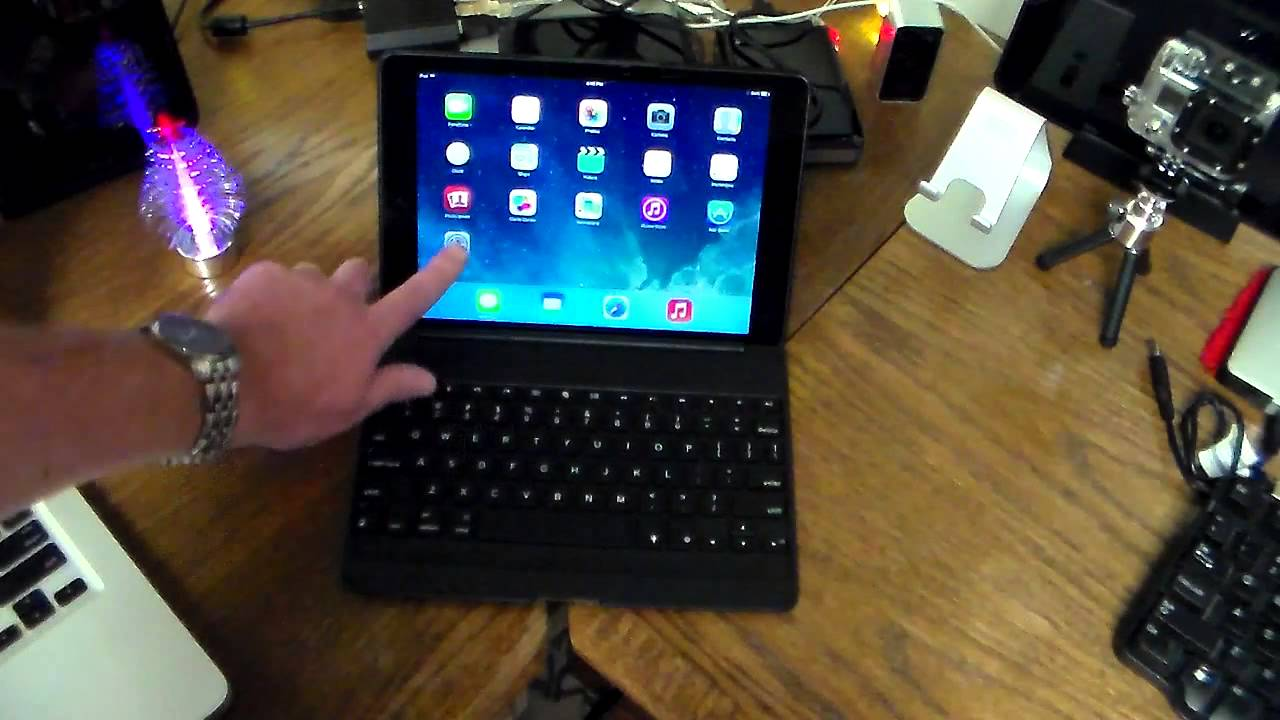 599ea53180a Zagg Keys Folio Backlit Keyboard Case for iPad Air Unboxing & Review ...