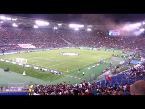 Roma - CSKA 5 - 1 Лига чемпионов 17/09/2014 Гимны + первая стычка