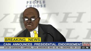 Herman Cain Announces Endorsement