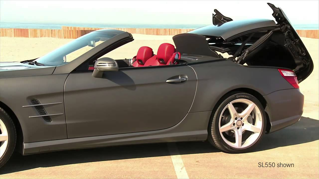 Sl65 amg walk around v 12 hardtop convertible sports car for Mercedes benz hardtop convertible 2014