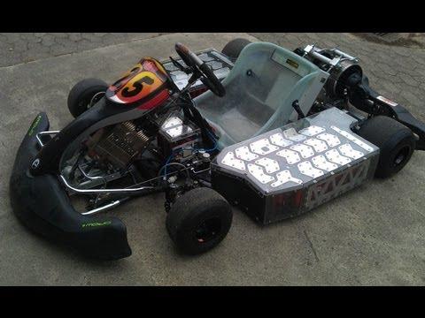 Electric Go Kart goes wild 128HP