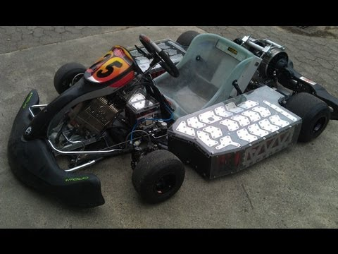 Electric Go Kart Goes Wild 128HP