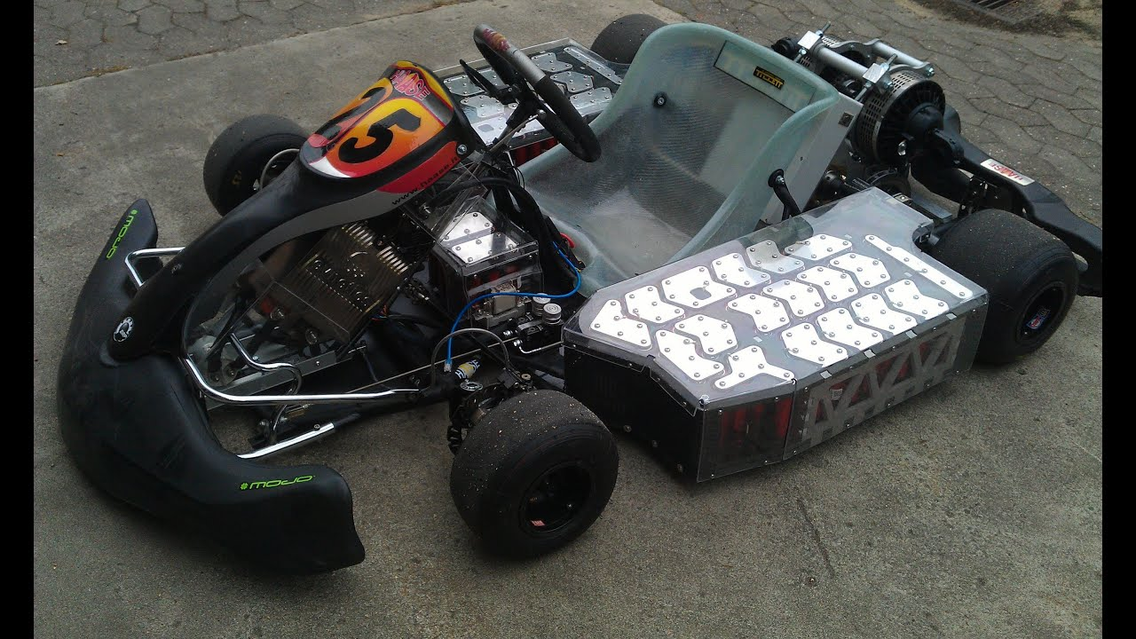Electric Go Kart goes wild 128HP - YouTube