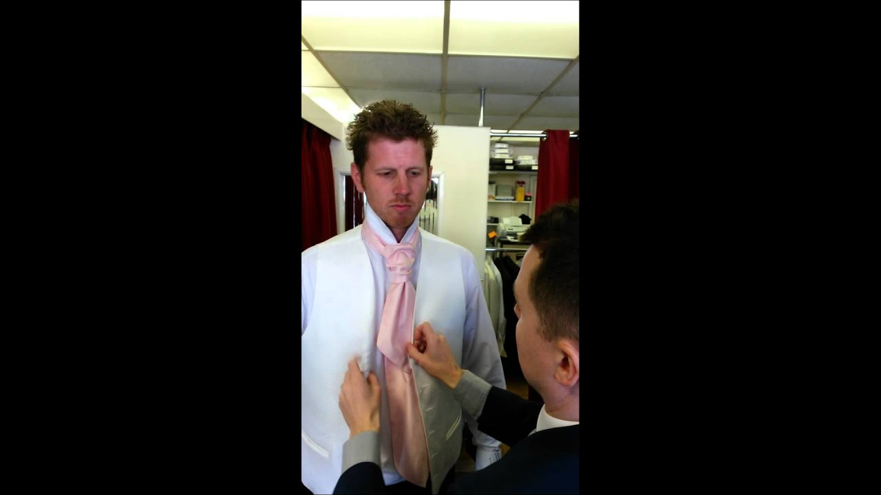 How To Tie A Cravat For A Wedding Suit Take 2 Youtube