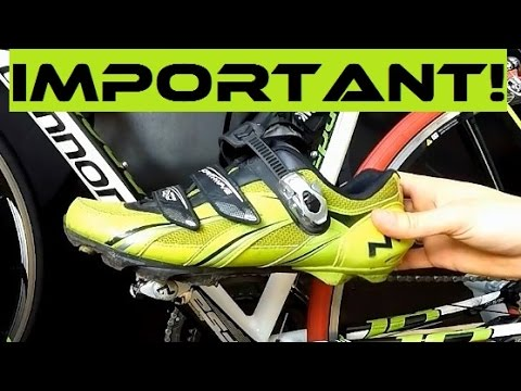Bike Fitting - How To Adjust Cleats On Clipless Pedals / Shoes. Cleat Alignment