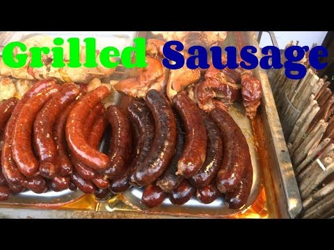 Grilled Sausage, Pork  Sausages, Street Food in Slovakia