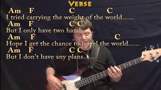 Wake Me Up (Avicii) Bass Guitar Cover Lesson in Am with Chords/Lyrics