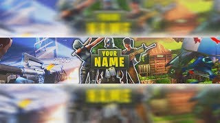 Fortnite YouTube Banner Template PSD Free Download - Cool Fortnite Header Template PSD 2018!