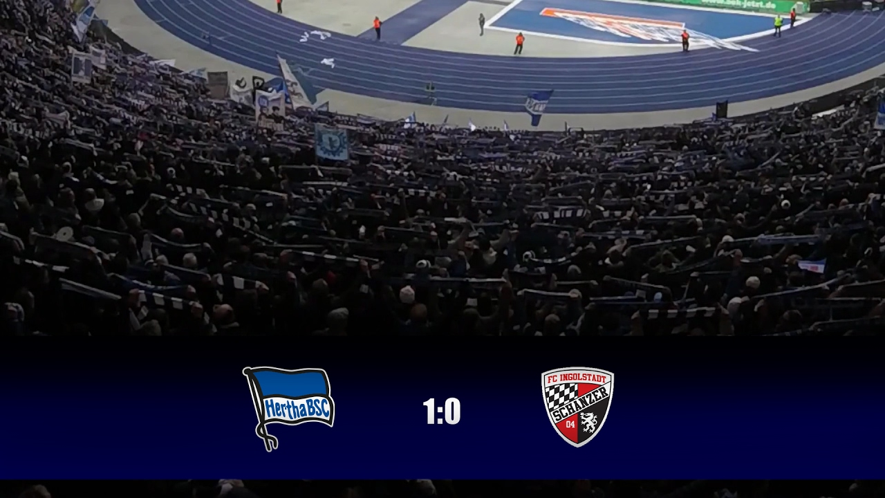 Hertha Bsc Fc Ingolstadt 1 0 Ostkurve Highlights 19