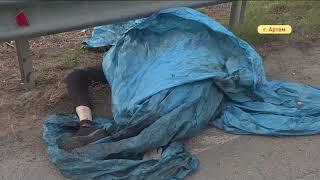 Страшное ДТП: стойки ограждения разделили тело пассажира мотоцикла на части