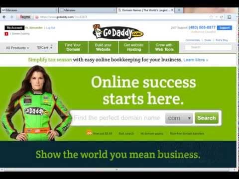 1  Регистрация сайта в зоне  COM GoDaddy com Видеокурс webasyst от А до Я Как открыть Интернет магаз