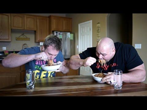 Spaghetti Eat Off Vs World's Strongest Man!