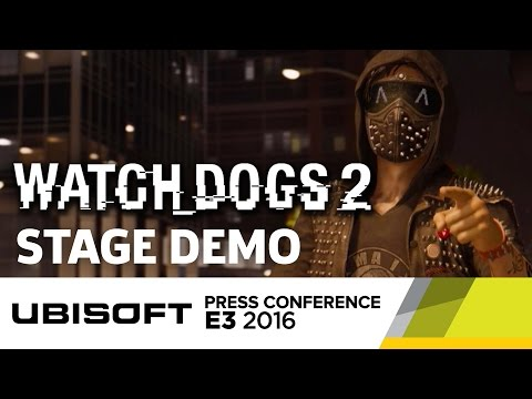 Watch Dogs 2 Stage Demo - E3 2016 Ubisoft Press Conference