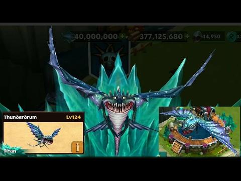 Thunderdrum max level 124 titan mode||Dragons rise of Berk ...