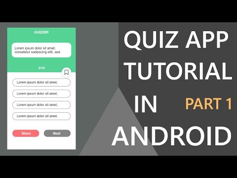 How To Make Quiz App In Android Studio?(Part-1) | Hindi Tutorial 2019