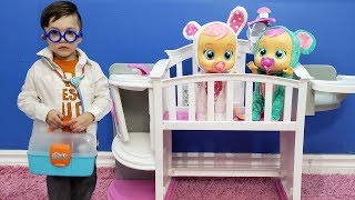 Doctor Saves Cry Babies Pretend Play