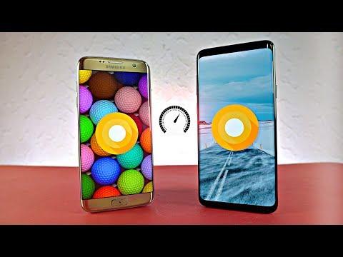 Samsung Galaxy S9 Plus vs S7 Edge Android 8.0 Oreo - Speed Test!