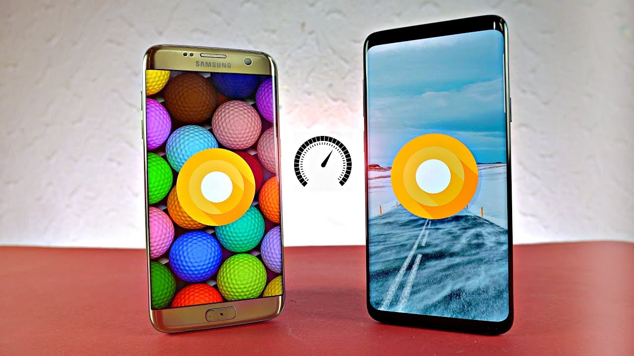 samsung galaxy s9 plus vs s7 edge android 8 0 oreo speed. Black Bedroom Furniture Sets. Home Design Ideas