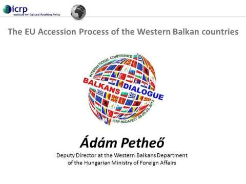 Lecture by Ádám Petheő - The EU Accession Process of the Western Balkan Countries