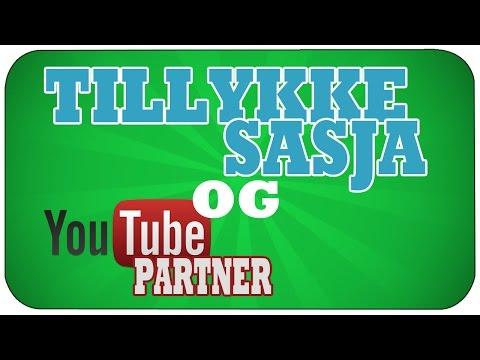[Danish] TILLYKKE Sasja og YouTube partner