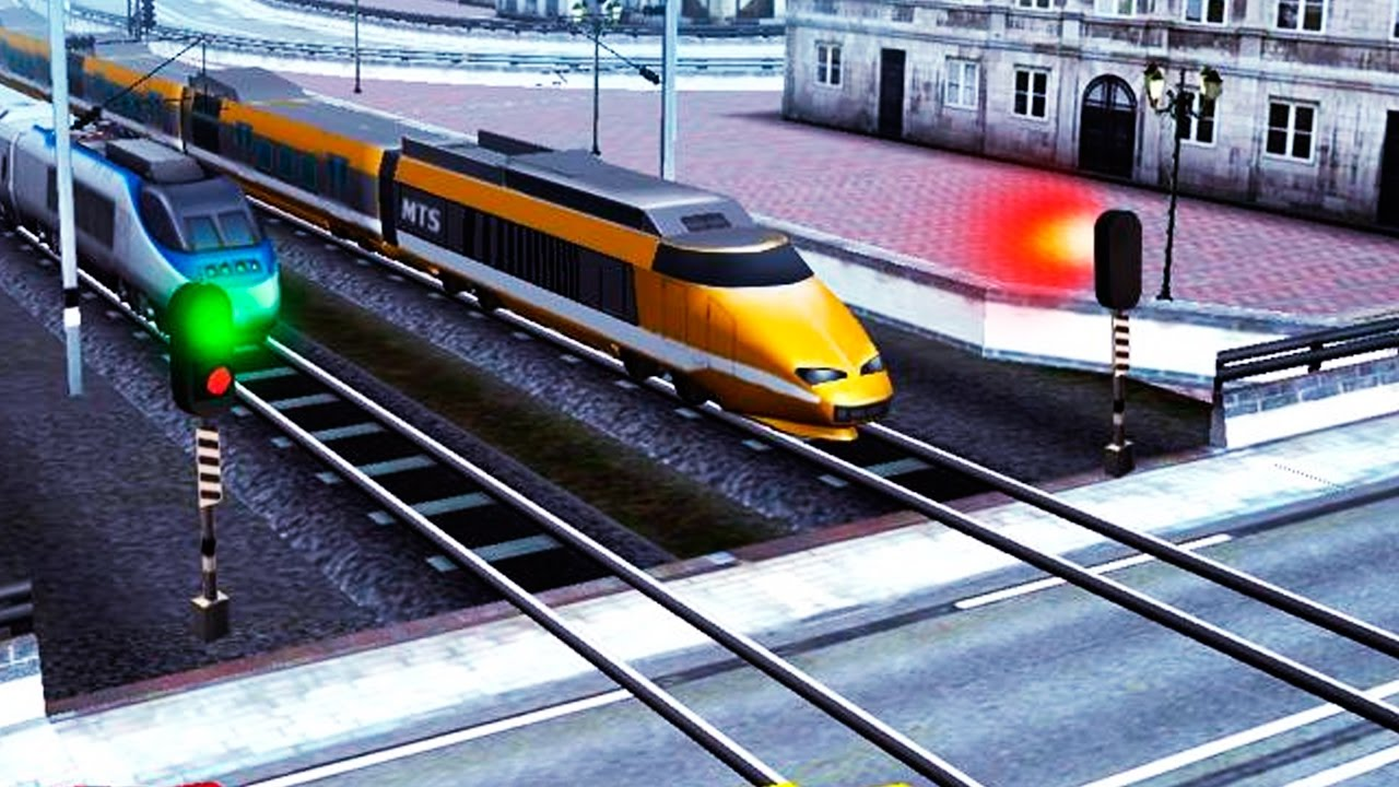 Euro Train Driving Games Android Gameplay Hd Video Youtube