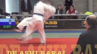 "JUDO Using effortless hip power to ""break balance"" & a foot-sweep or any throw"