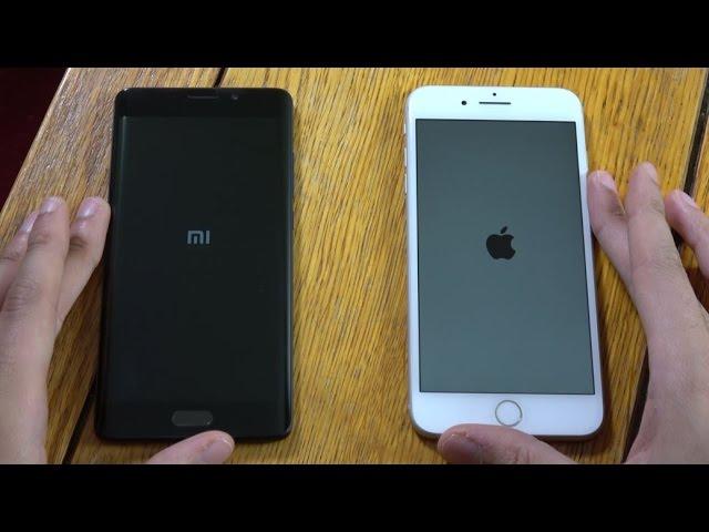 Xiaomi Mi Note 2 и iPhone 7 Plus - Сравнение скорости!