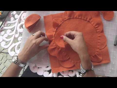Diy cojin de petalos youtube - Como hacer cojines originales ...