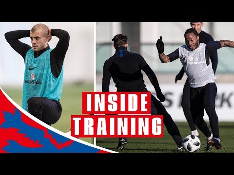 England Hard at Work in First Session of 2018 | Inside Training