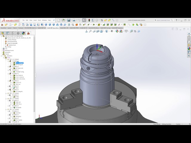 SolidCAM 2016 - Automatic Turning Plane Rotation